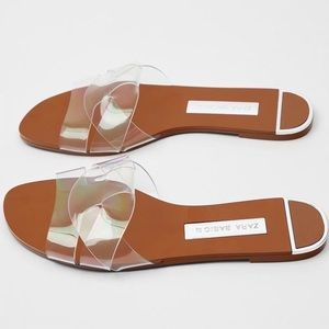 Zara vinyl sandals